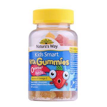 图片 澳洲 Nature's Way佳思敏 儿童欧米茄鱼油软糖 60粒(新旧包装随机发)